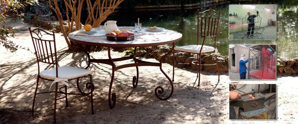 Inicio - Muebles de jardin de forja ...